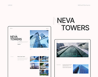 """""""NevaTowers"""" landing page concept"""