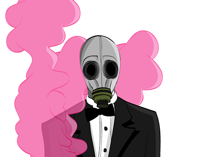 Gas Mask Illustration for client (2015)
