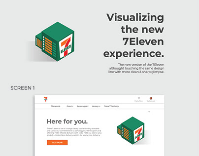 UI Design - Visualizing the new 7Eleven experience.