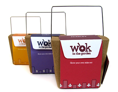 Wok in the Garden: Herb Garden Packaging