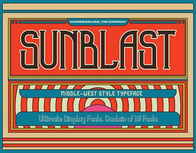Sunblast - Middle West Typeface