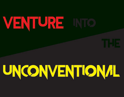 Venture into the Unconventional Event Poster