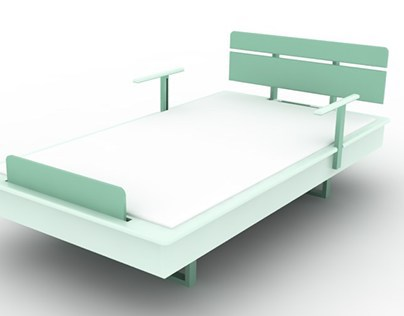 Economical bed for paraplegic to use multi-purposely