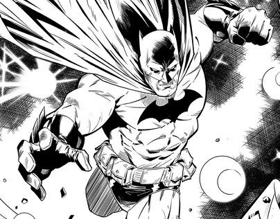 Batman lineart for Detective Comics #2 from D.C.Comics
