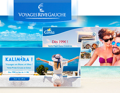 Travel agency banners set