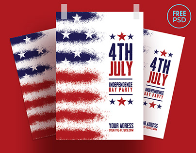Free Flyer PSD - Independence Day