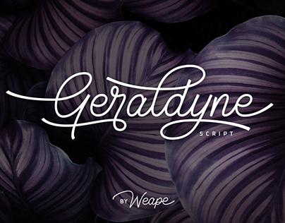 Geraldyne Monoline Script Font
