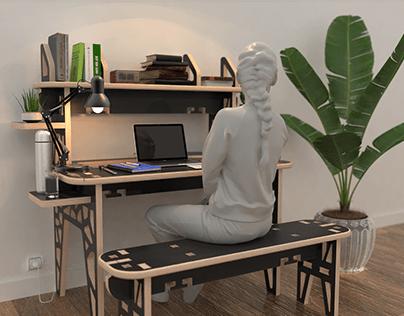 One sheet furniture - Ideal desk