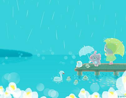 湖のほとりの小鳥