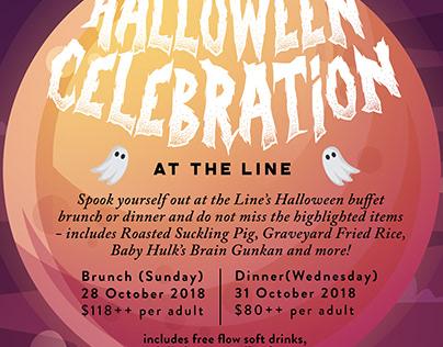 Halloween Poster 2018 | The Line@Shangri-La Singapore