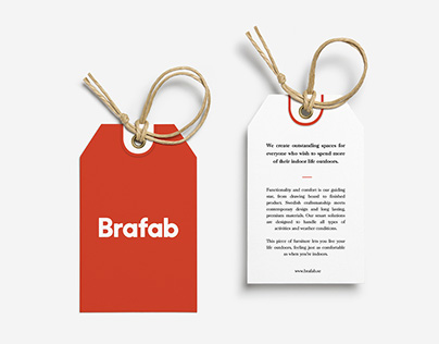 Outstanding furniture - Brafab hang tag