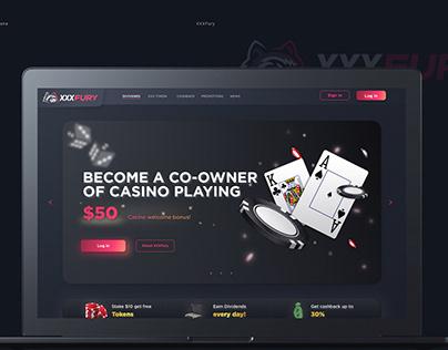 Website for Casino / Gambling / Online games platform