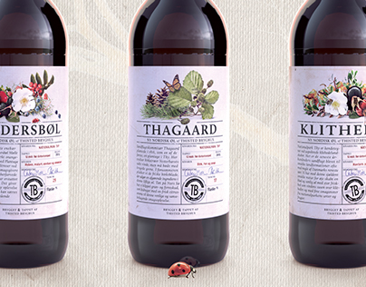Beer label and package design for Thisted Brewery