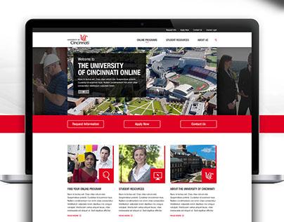 University of Cincinnati Partnersite Design