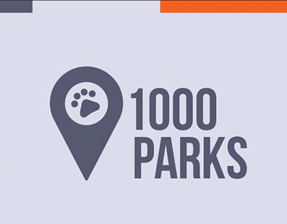 1000Parks - Ux/Ui concept