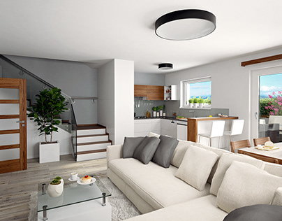 Dvojdům - interiér / Double House - interior