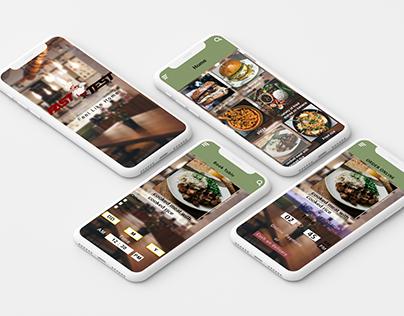 UI Design For Resturant App