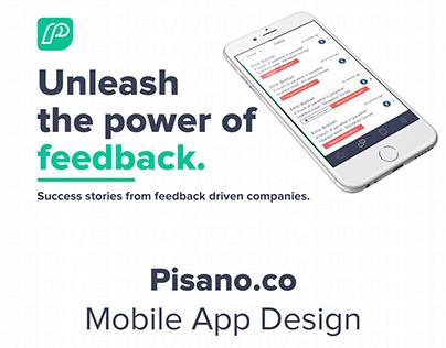 Pisano.co Mobile App Design Survey Dashboard App