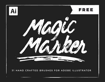 FREE - Marker Brushes for Adobe Illustrator