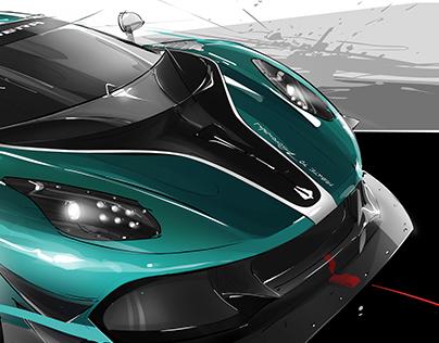 ARRINERA polish supercar live drawing.