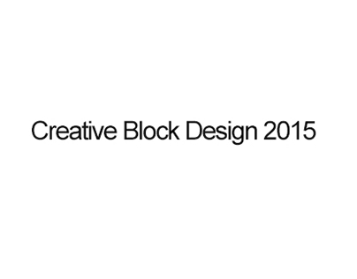 Creative Block Design 2015