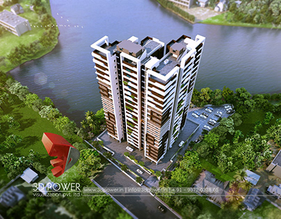 One of the most striking Apartment Project 3D Render