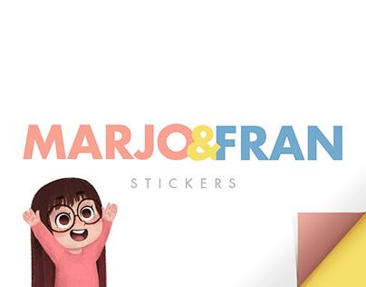 Marjo & Fran Stickers