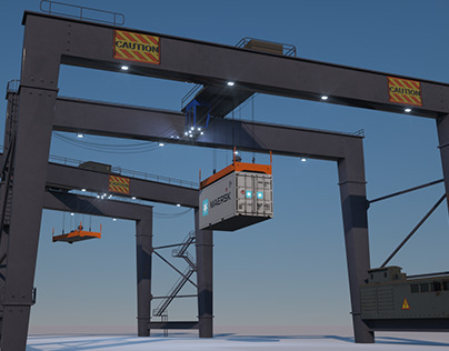 Port Crane low poly
