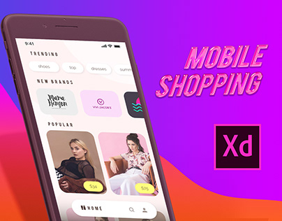 Free XD Template for Shopping App (Fashion, Mockup)