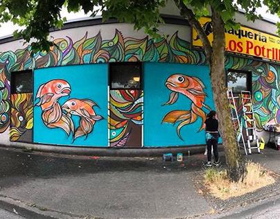Gold Fish Mural