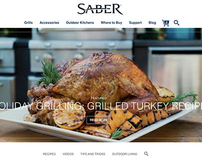 Saber Grills Blog design & WordPress theming