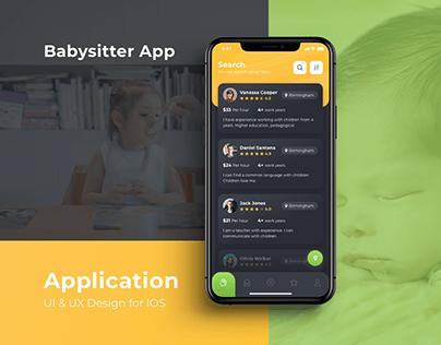 Babysitter App UX + UI
