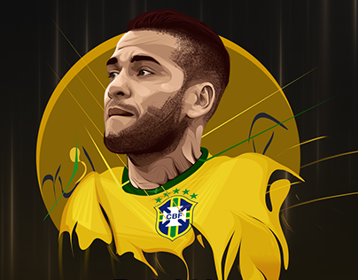Dani Alves Vector Art