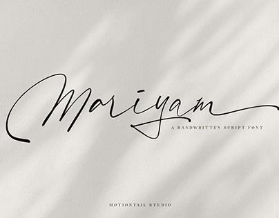 Mariyam Handwritten Font