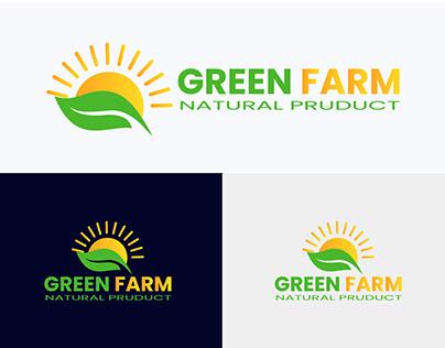 Green Farm Logo | Farm logo Design | Sun logo design
