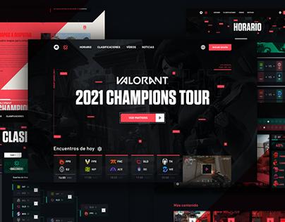 VALORANT eSports - Web Redesign UI (Concept)