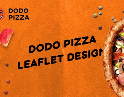 Dodo pizza leaflet design