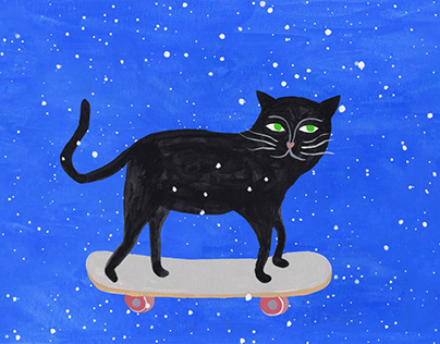 Skateboard Cat animation