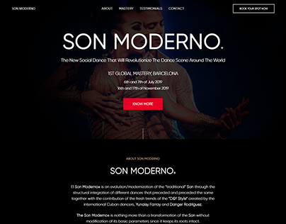 Landing Page For Son Moderno