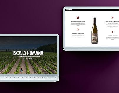 Escala Humana Wines - Website Design, UI & Development