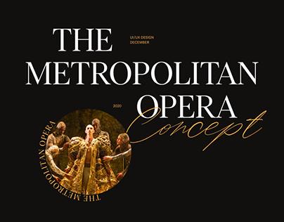 The Metropolitan Opera Website Concept