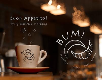 Breakfast under the moon (cafe logo)