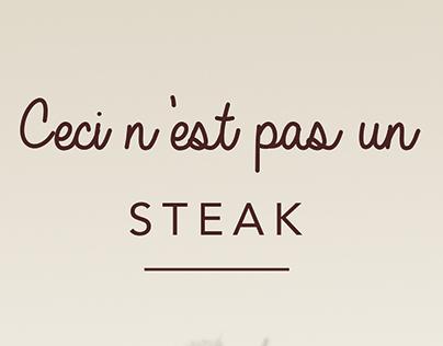 """Affiche """"Ceci n'est pas un steak"""""""