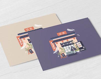Ramen Shop - Post Card
