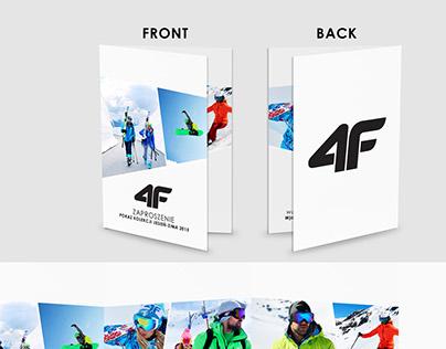 4F Invitation and Magazine Cover