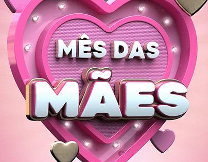 Selo 3D - Mês das Mães - Dia das Mães