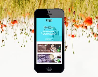 Homepage Axure Prototype Free