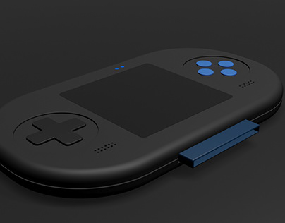 Portable Game Prototype 3D Model
