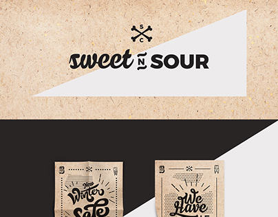 Sweet n Sour branding Fashion store // מיתוג