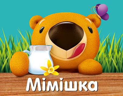 MIMISHKA. Ice Cream for Kids. Packaging and Hero